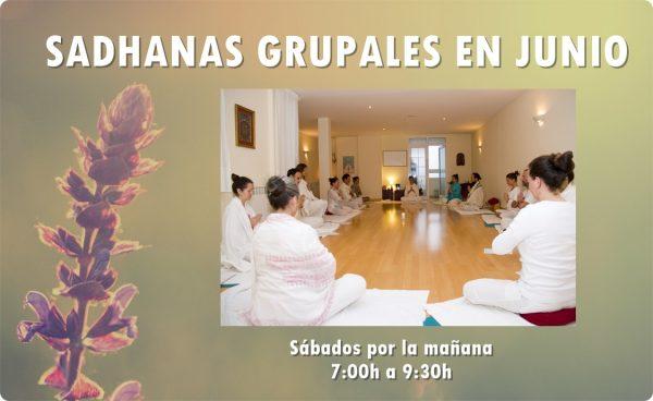 Sadhanas grupales en junio. Escuela Kundalini Yoga Zaragoza