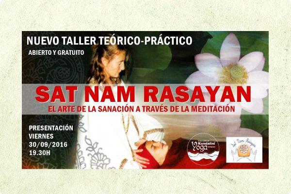 Nuevo taller presentación curso Sat Nam Rasayan Escuela Kundalini Yoga Zaragoza
