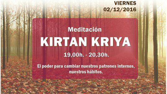 Actividades de primer viernes de mes kirtan kriya escuela Kundalini Yoga Zaragoza
