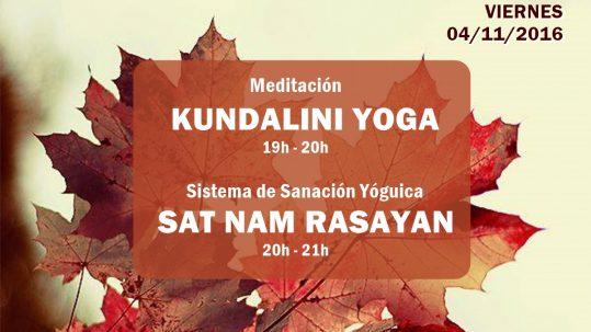 Actividades de primer viernes de mes en la escuela Kundalini Yoga Zaragoza