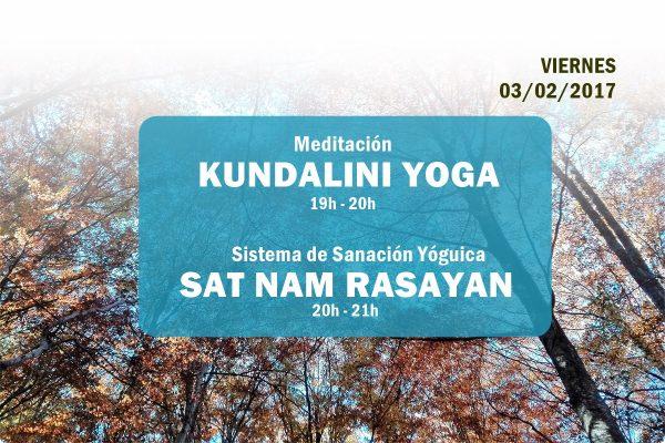 Actividades primer viernes de mes. Febrero 2017. Escuela Kundalini Yoga Zaragoza