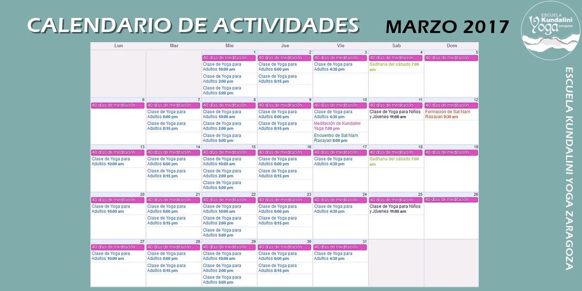 calendario_actividades_marzo_2017_escuela_kundalini_yoga_zaragoza